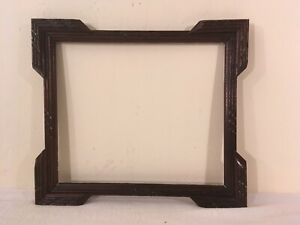 Antique Carved Mahogany Wood Picture Frame 10 5x12 5 Opening