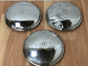 Vintage 1930 s 1940 s Oem Buick 10 Chrome Hub Caps Wheel Covers set Of 3