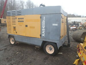 2006 Atlas Copco Xas1600 Cd6 Air Compressor Clean 1600 Cfm Cat Diesel Trailer