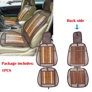 1pc Wooden Beads Car Seat Mesh Cover Cushion Pad Massage For Home Office Chair