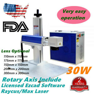 30w Split Fiber Laser Marking Engraver Engraving Machine Rotary Axis Include