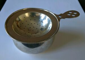 Towle Sterling Tea Strainer Drip Bowl