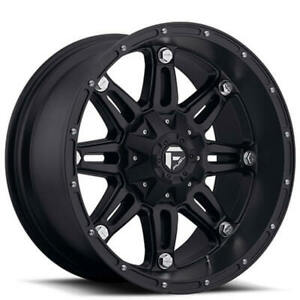 4ea 18x9 Fuel Wheels D531 Hostage Matte Black Off Road Rims S7