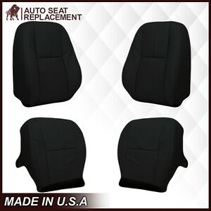 2007 2014 Gmc Sierra And Chevy Silverado Tahoe Leather Seat Covers Black