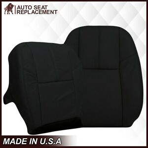 2007 2014 Gmc Sierra Chevy Silverado Tahoe Synthetic Leather Seat Covers Black
