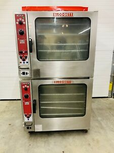 Blodgett Double Stack Gas Combi Ovens Top Bcx14 Bottom Cnvc14 Tested Working