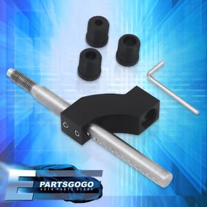 M10 X 1 5 Stainless Steel Shift Knob Extension Manual Gear Shifter Lever Black