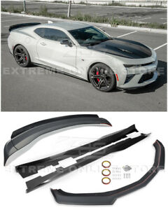For 16 up Camaro Ss Refresh Zl1 Style Front Splitter Side Skirts Rear Spoiler