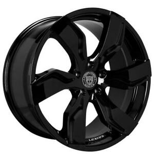 4ea 24 Lexani Wheels Zagato Gloss Black Rims s8