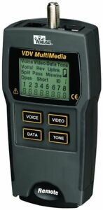 Ideal 33 856 Vdv Multimedia Cable Tester New