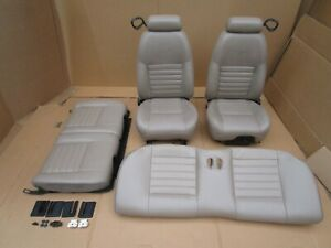 99 04 Mustang Gt Coupe Front Rear Tan Leather Seats Oem 2004 Gt Nice Look