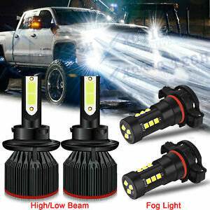 For Gmc Yukon 2007 2014 Led Headlights Kit High Low Beam Fog Light 6000k Bulbs