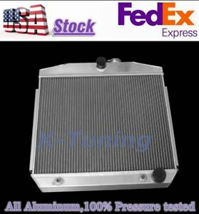 For 55 57 Chevy Small Block V8 Bel Air Performance Aluminum Cooling Radiator