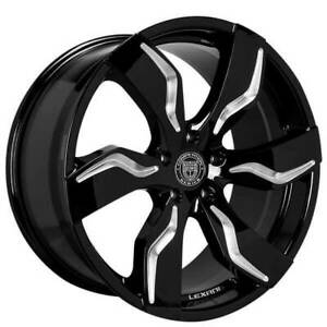 4ea 24 Lexani Wheels Zagato Gloss Black With Machined Accents Rims s8