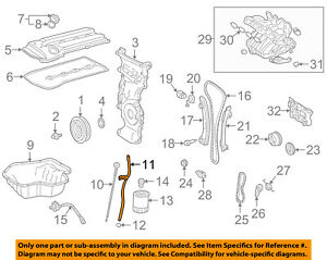 Toyota Oem Engine Parts Guide Tube 1145228011