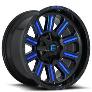 4ea 18 Fuel Wheels D646 Hardline Gloss Black W Candy Blue Off Road S8