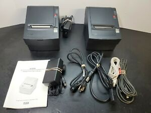 2 Posx Xr500 Thermal Pos Point Of Sale Receipt Printers Ethernet Power Cable