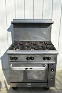 Vulcan 36s 6bn Endurance Natural Gas 6 Burner Range With Oven
