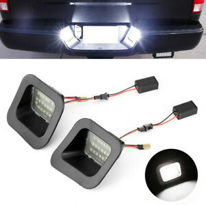 For 03 18 Dodge Ram 1500 2500 3500 6k White Led License Plate Lights Error Free