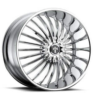 4ea 28 Dub Wheels Suave S140 Chrome Rims s7