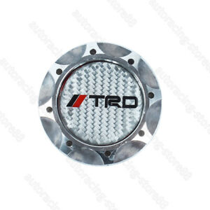 Real Carbon Trd Silver Engine Oil Filler Cap Oil Tank Cover Aluminium For Toyota