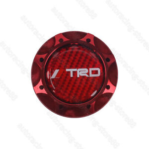Red Real Carbon Trd Red Engine Oil Filler Cap Oil Tank Cover For Toyota