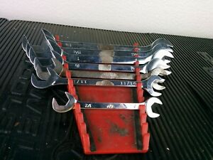 Af521 Mac Tools 7pc Sae 4 Way Angle Head Open End Wrench Set Da36 1 1 8