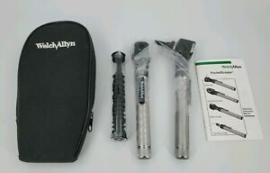 Welch Allyn 2 5v Pocketscope Diagnostic Set Otoscope Ophthalmoscope W Case