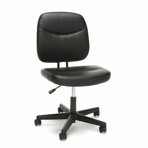 Essentials By Ofm Ess 6005 Armless Leather Office Desk Chair Black