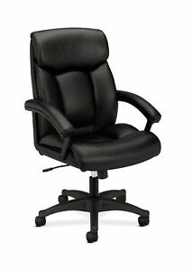 Hon Leather Executive Chair High back Computer Chair For Office Desk Black