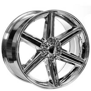 4ea 24 Iroc Wheels Chrome 6 Lugs Rims S10