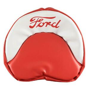 19 Red And White Seat Cover W 1 5 Foam Fits Ford