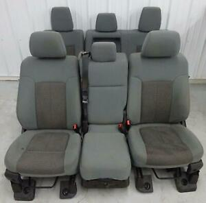 Ford F350 Sd Front And Rear Split Bench Seat Set 2011 2012 2013 2014 2015 2016