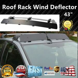 Universally Fit Rooftop 43 Roof Rack Crossbar Wind Fairing Air Deflector Kit