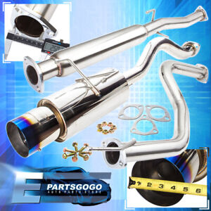 For 92 00 Honda Civic 2 4dr Jdm N1 Catback Exhaust System With 4 5 Burnt Tip