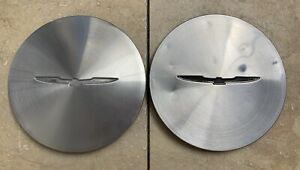 1985 97 Ford Thunderbird Turbo Coupe Center Caps Pair Alloy Finish Oem