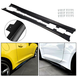 For 16 20 Camaro Rs Ss Zl1 Style Black Side Skirts Panel Extension Pair