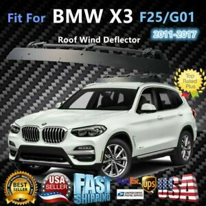 Fits Bmw X1 x3 x5 x7 43 Roof Rack Crossbar Wind Fairing Air Deflector Kit