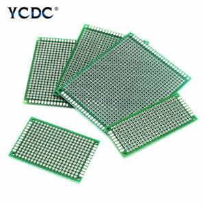 One duel sided Prototyping Pcb Circuit Board Strip Breadboard Diy For Arduino