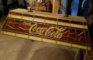 Vintage Coca Cola Billiard/Pool Table Light Tiffany Style Numbered 3641