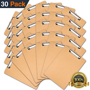 Clipboards Set Of 30 By Office Solutions Direct Eco Friendly Hardboard Pack A4