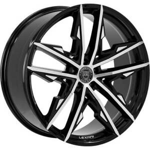 4ea 24 Lexani Wheels Venom Gloss Black Machined Rims s10
