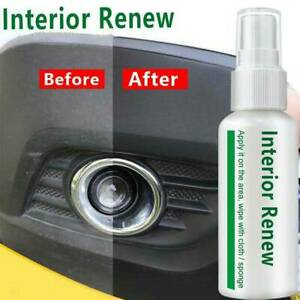 Car Interior Renewal Plastic Parts Maintenance Clean Retreading Agent Spray 10ml