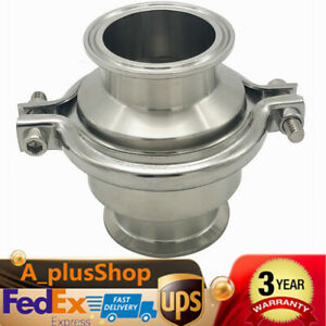 Sanitary Stainless Steel Check Valve 4 Stainless Steel 304 Valve New Usa Stock