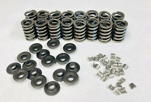 Small Block Chevy Z 28 Hi Perf Valve Spring Kit With Steel Retainers And Locks