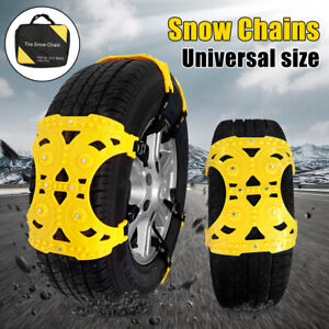 6 Pcs Universal Car Snow Tire Chain Belt Beef Tendon Anti Slip Cars Suv Trucks