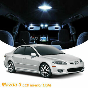 6x White Led Interior Lights Package Kit For Mazda 3 2004 2006 2007 2008 2009