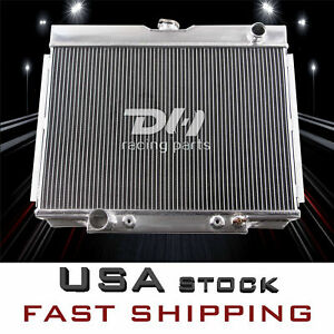 24 W 3 Row Aluminum Radiator For Ford Mustang Cougar Fairlane Xr7 V8 Eng 1968 70