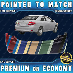 New Painted To Match Rear Bumper Replacement For 2011 2013 Toyota Corolla 4dr