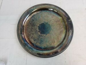 Vintage Wm Rogers 272 Silver Plated Large 15 Round Serving Tray Platter A48